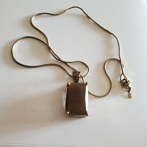 """24"""" Gold Tone Premier Designs Necklace Rectangle"""